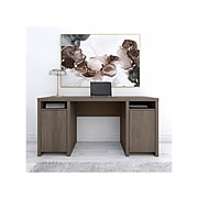 """Bush Furniture Bristol 62""""W Engineered Wood Computer Desk with Storage Cabinets and Shelves, Restored Gray (BRD260RT-03)"""