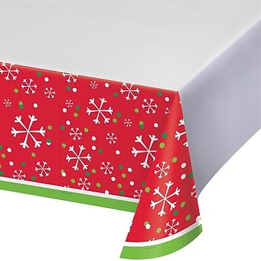 Creative Converting Snowflake Fun Plastic Tablecloth, 54