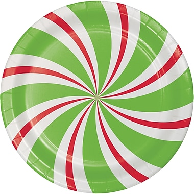 Creative Converting Peppermint Party Dessert Plates, 7