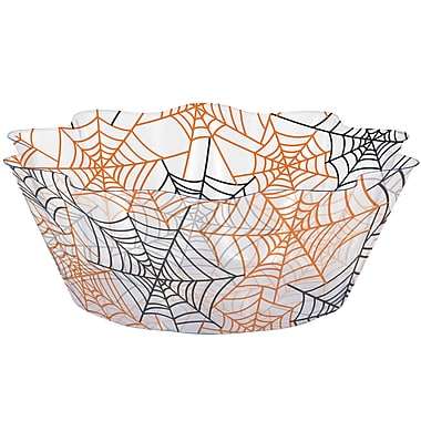 Creative Converting Spiderwebs Fluted Bowl, 8