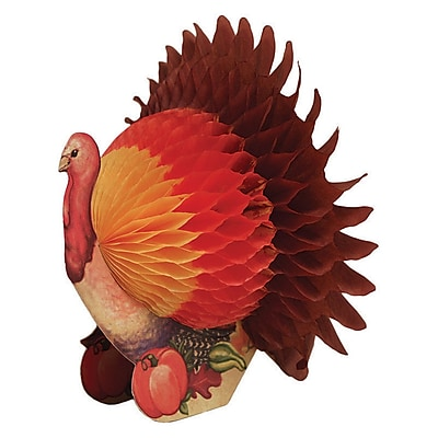 Creative Converting Small Thanksgiving Turkey Centerpiece, 6