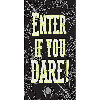 Creative Converting Enter If You Dare Halloween Door Decoration, 30