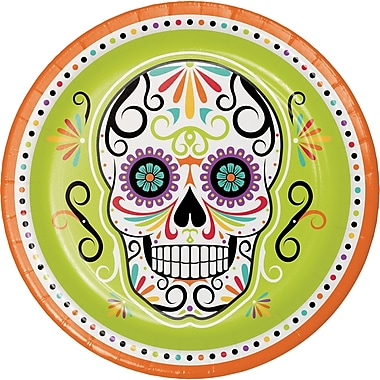 Creative Converting Skelebration Paper Plates, 9