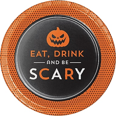 Creative Converting Eat Drink and be Scary Halloween Dessert Plates, 7
