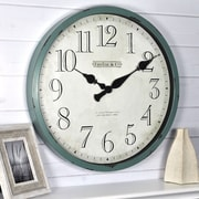 "FirsTime Bellamy 24""H Aged Teal Wall Clock (10065)"