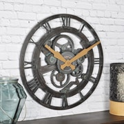 "FirsTime Oxidized Gears 15""H Metallic Teal Wall Clock (25688)"