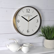 "FirsTime 14""H Gold Metal Wall Clock (50070)"