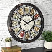 "FirsTime Palette Plaques 20""H Multicolor Wall Clock (50079)"
