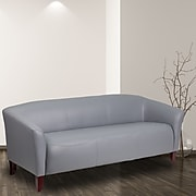 HERCULES Imperial Series Gray Leather Sofa (111-3-GY-GG)
