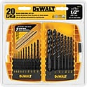 Dewalt 20-Piece Black Oxide Drill Bit Set