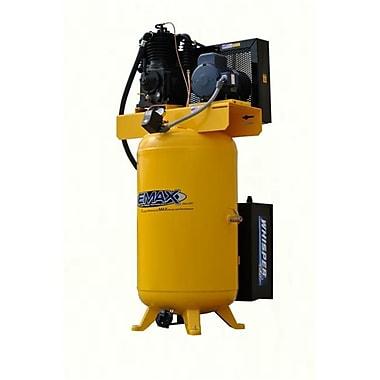 Emax Compressor Industrial Plus Silent Air 5 HP 2 Stage 1 PH 80-gallon Vertical Air Compressor (EMXC004)