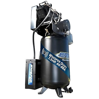 Emax Compressor Industrial Silent Air 7.5 HP 2 Stage 1 PH 80-gallon Vertical Air Compressor (EMXC002)