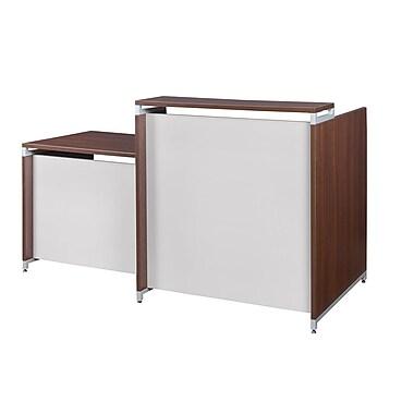 Regency OneDesk Reception Desk Shell, Java (ONRD7630JV)