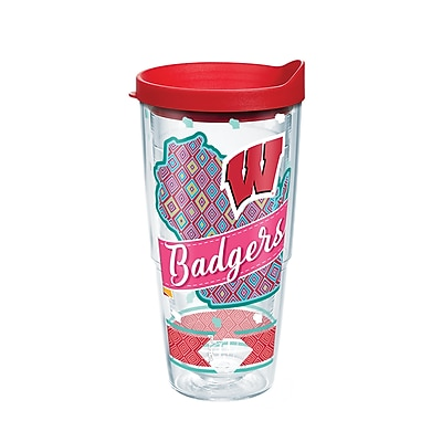 Tervis NCAA Wisconsin Badgers Class 24 oz. Tumbler with Lid (888633617204)