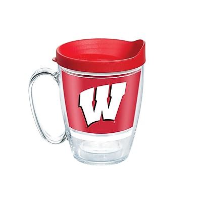Tervis NCAA Wisconsin Badgers Legend 16 oz. Coffee Mug with Lid (888633651833)