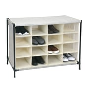 Simplify Shoe Cubby, 16 Compartment, Faux Jute (23200-FEJ)