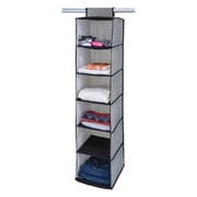 Simplify Closet Organizer, 6 Shelf, Black (25427-BLACK)