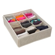 Simplify Drawer Organizer, 9 Compartment, Faux Jute (25516-FEJ)