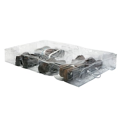 Simplify Under the Bed Shoe Storage Bag, Crystal Clear (26367)