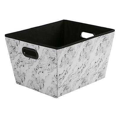 Simplify Grommet Storage Bin, Large, Marble (26844-MARBLE)