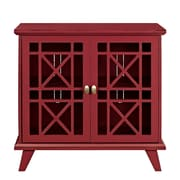 "Walker Edison 32"" Gwen Fretwork Accent Console Cabinet - Red (SP32FWARD)"