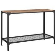 Walker Edison Angle Iron Rustic Wood Sofa Entry Table - Barnwood (SP44AIETBW)