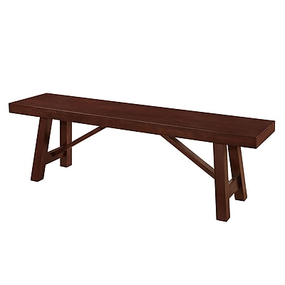 Walker Edison Solid Wood Trestle Style Dining Bench - Espresso (SPBW60TRES)