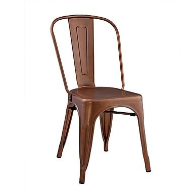 Walker Edison Stackable Metal Cafe Bistro Chair - Brown (SPH33MCBR)