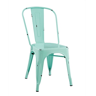 Walker Edison Stackable Metal Cafe Bistro Chair - Mint (SPH33MCMT)