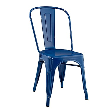 Walker Edison Stackable Metal Cafe Bistro Chair - Navy Blue (SPH33MCNB)