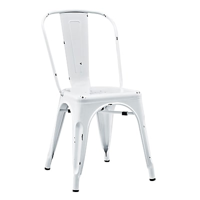 Walker Edison Stackable Metal Cafe Bistro Chair - White (SPH33MCWH)