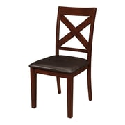 Walker Edison Solid Wood X-Back Padded Dining Chairs - Set of 2 - Espresso (SPHW2TRES)