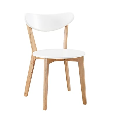 Walker Edison Retro Modern Wood Kitchen Dining Chairs - Set of 2 (SPHWRM2WNL)