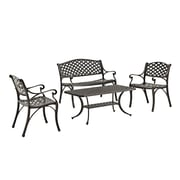 Walker Edison 4-Piece Cast Aluminum Conversation Set (SPM4CSAB)