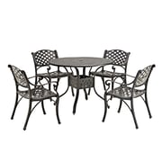 Walker Edison 5-Piece Cast Aluminum Dining Set (SPM5DSAB)