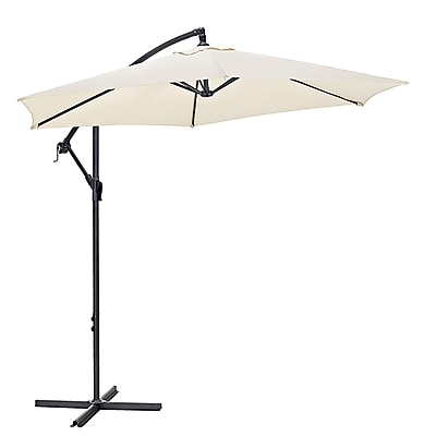 Walker Edison 9 Foot Cantaliever Patio Umbrella, Tan (SPM9CTVTN)