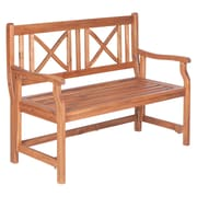 "Walker Edison 48"" Acacia Wood Folding Bench, Brown (SPW48FBBR)"