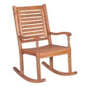 Walker Edison Solid Acacia Wood Rocking Patio Chair, Brown (SPWRCBR)