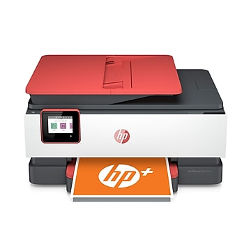 HP OfficeJet Pro 8035e All-in-One Wireless Color Printer (Coral), with bonus 12 months free Instant Ink with HP+ (1L0H8A)