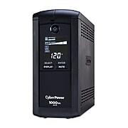 CyberPower Intelligent LCD 1000VA UPS, 9-Outlets, Black (CP1000AVRLCD)