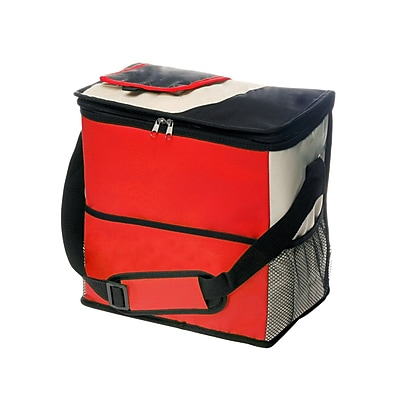 Natico Red, Black and Tan Polyester Insulated Cooler Bag (60-LN-13RD)