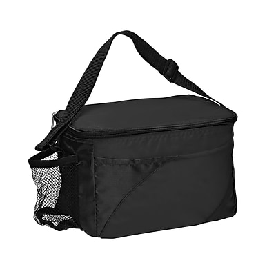 Natico Black Polyester Insulated Cooler Bag (60-LN-16BK)