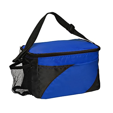 Natico Blue and Black Polyester Insulated Cooler Bag (60-LN-16BL)