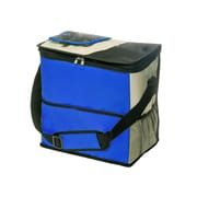 Natico Blue, Black and Tan Polyester Insulated Cooler Bag (60-LN-13BL)
