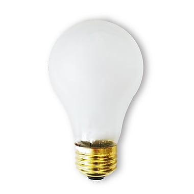 Bulbrite Incandescent (INC) A19 60W Dimmable Frost Rough Service 2700K Warm White Light Bulb, 24 Pack (107160)