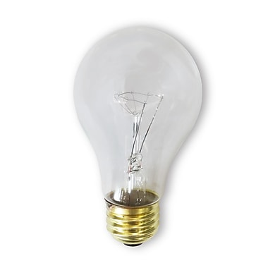 Bulbrite Incandescent (INC) A19 75W Dimmable Rough Service Clear 2700K Warm White Light Bulb, 24 Pack (107275)