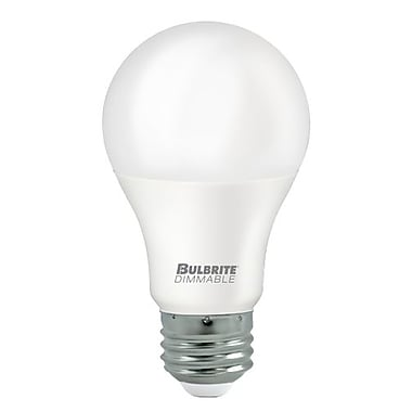 Bulbrite LED A19 9W Dimmable 2700K Warm White Light Bulb, 8 Pack (774120)