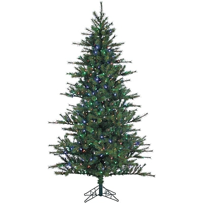 Fraser Hill Farm 9 Ft. Southern Peace Pine Christmas Tree with Multi-Color LED String Lighting (FFSP090-6GR)