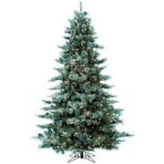 Fraser Hill Farm 7.5-Ft. Glistening Pine Tree with Pine Cones, Multi-Color LED Lights and EZ Connect (FFGP075-6GREZ)