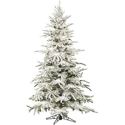 Fraser Hill Farm 9 Ft. Flocked Mountain Pine Christmas Tree (FFMP090-0SN)